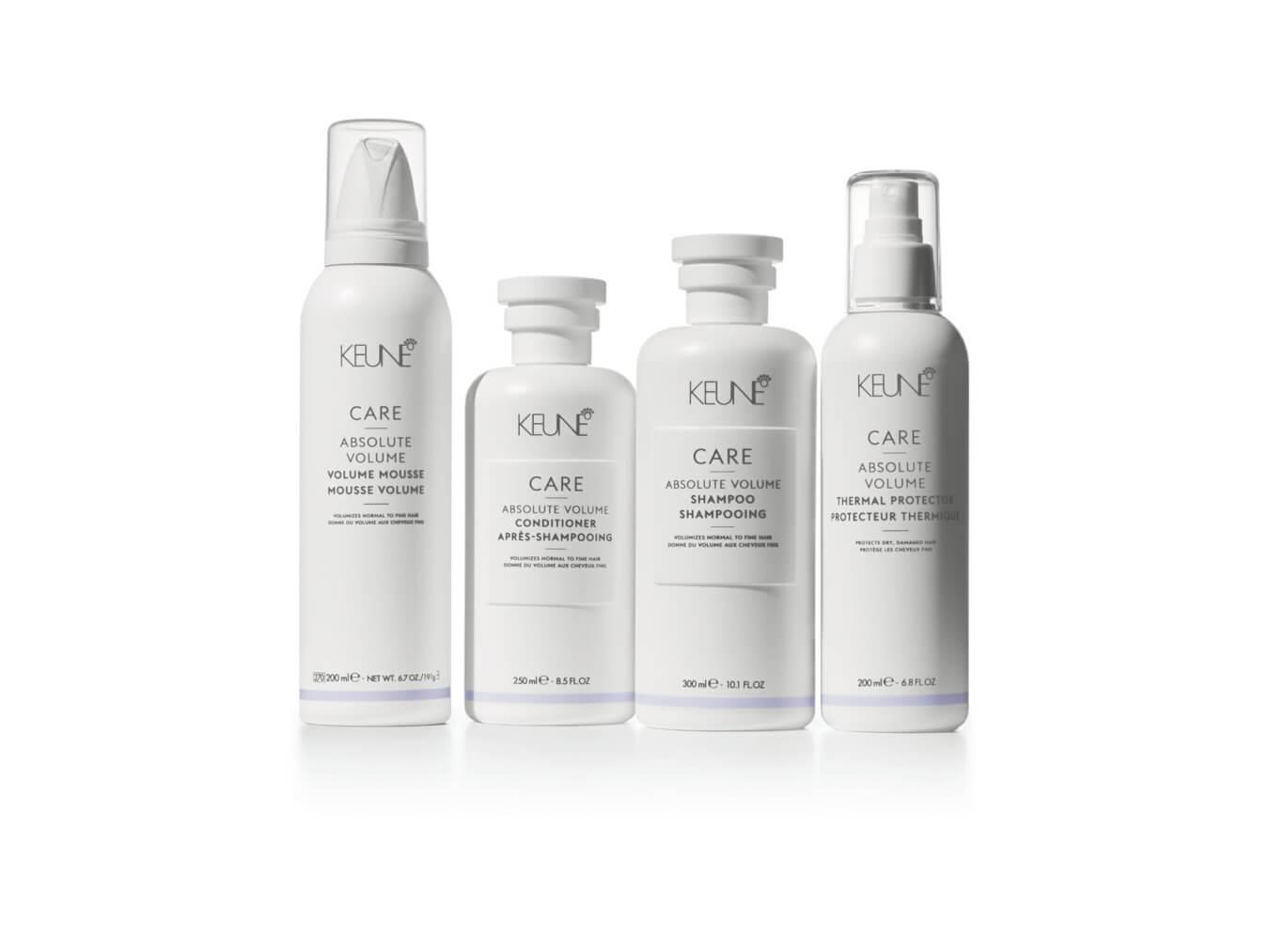Verwenden Sie Keune Care Absolute Volume und Sie erhalten mehr Volumen in Ihrem Haar.