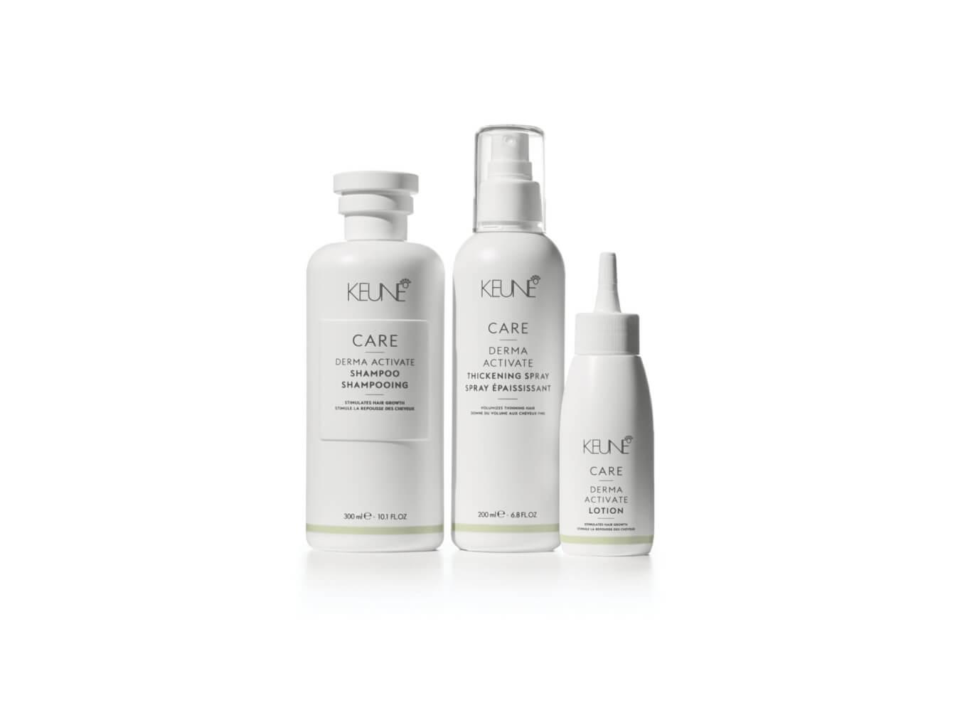 Wenn Ihr Haar dünner wird, ist es Zeit für Keune Care Derma Activate. Bringen Sie Ihre Kopfhaut wieder ins Gleichgewicht.