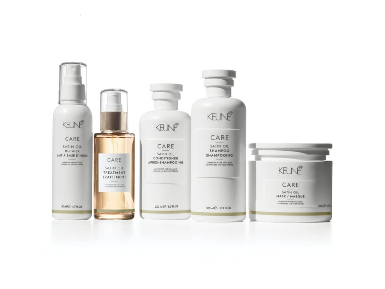 Die Antwort auf stumpfes und trockenes Haar ist das Haarnährmittel von Keune Care Satin Oil.