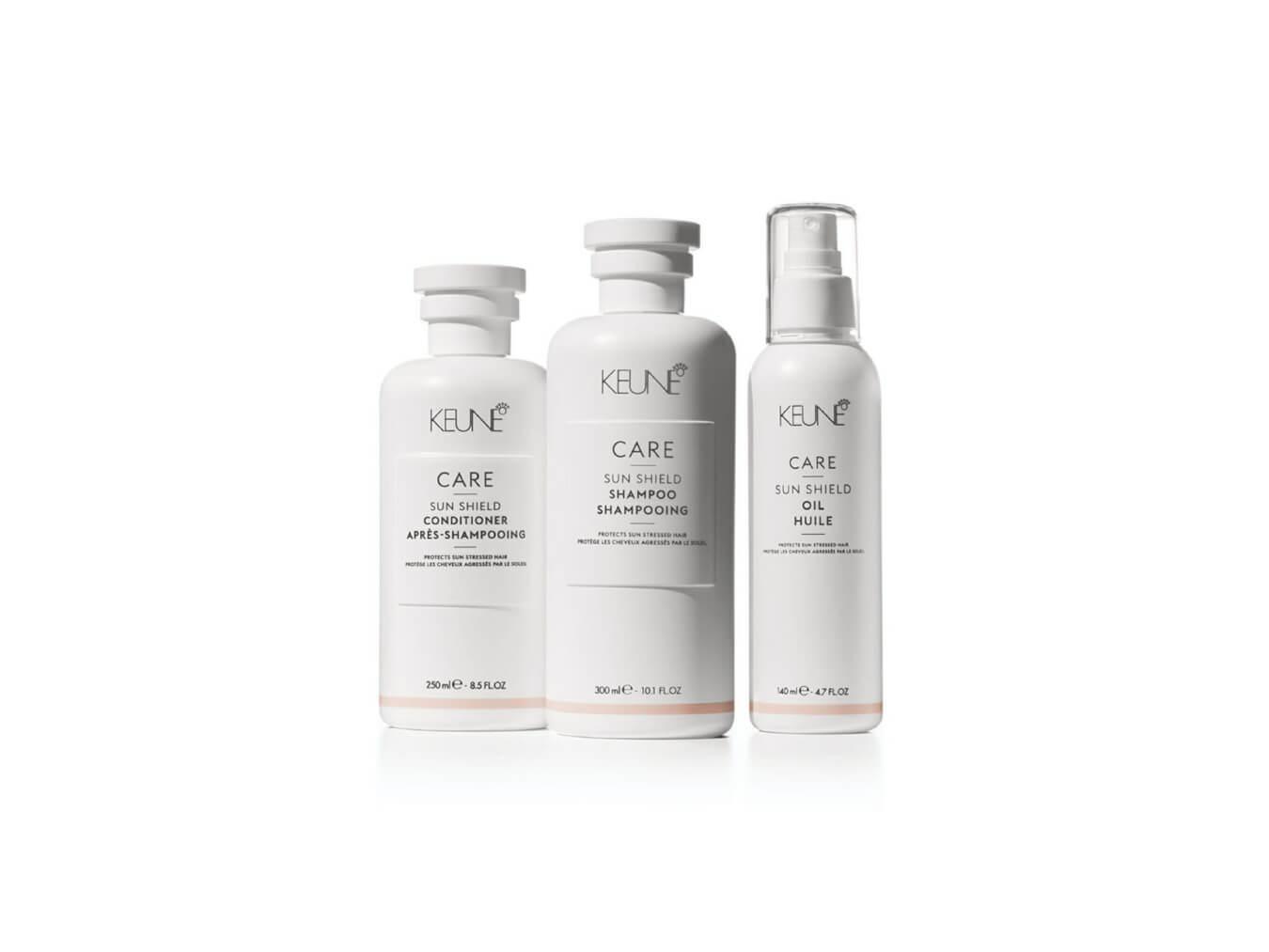 Starker Haarschutz gegen Sonne und andere Witterungseinflüsse ist auf Hardy's Keuze zu finden. Sehen Sie sich die Produkte von Keune Care Sun Shield an.