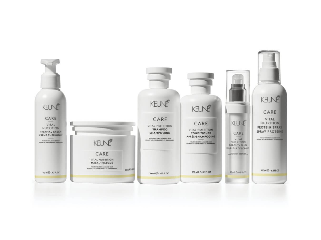 Mit den richtigen Haarprodukten erhalten Sie glänzendes Haar. Hochwertige Qualität finden Sie bei Keune Care Vital Nutrition.