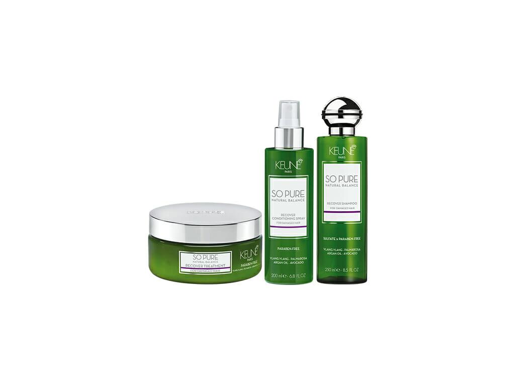 Geschädigtes Haar auf natürliche Weise regenerieren? Entdecken Sie, wie Avocado, Quinoa und Kokosnuss in den Keune So Pure Recover Produkten Ihre Locken wieder aufleben lassen.
